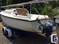 26ft T26 Columbia shoal draft sailboat in excellent