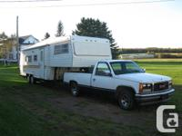 27.5 foot 5th wheel camper ,in good condition,ideal for