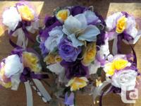 Brand new 27 piece wedding flower package comes with 8