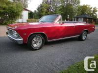 FRAME OFF RESTO Canadian built'66 CHEVELLE CONVERTIBLE.
