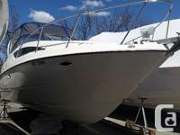 Spacious cabin cruiser, all upholstery and the cabin