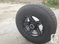Set of concours tires 285/70 R17 40% tread left  With
