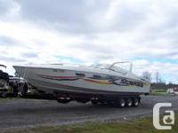 34 scarab twin 454s trs drives new gimbell bearings and