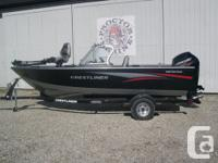 2015 Crestliner 1650 Fish Hawk WT Powered by the all