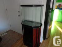 All Glass aquarium complete with stand, hood, light.