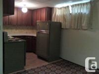 1 bed room basement collection in Shellbrook.  Tidy,