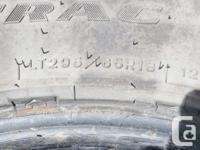 set of 4 295/65r18 goodyear wrangler mud tires, still