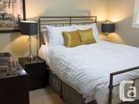 Fabulous 2 bed room, FURNISHED above-ground suite in