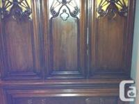 hi,  I have a beautiful antique armoire and drawer set