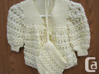 never worn 2piece hand crochet yellow Baby outfit