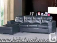 2pcs Sectional Set Sofa And Chaise  Black OR Chocolate