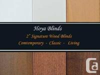 "2""Signature Real Wood Blinds   ** Please Visit Our Web"