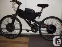 2WD Electric Mountain bicycle thanks to suspension