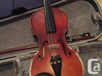 3/4 sized violin for sale. has little paint chip to the