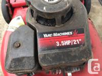 21� deck 3.5HP Briggs and Stratton bagging lawn mower.