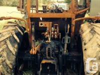 CAT CHALLENGER MT465B Burnt, engine Block,trans rear