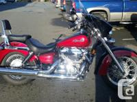 2005 Honda Shadow Aero With Batwing fairing, Sissy bar