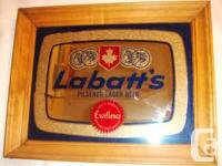 3 Classic Show Collectible Bar Mirrors, Labatts as well