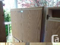 3 storage cupboards that came with the house. 2 tall &