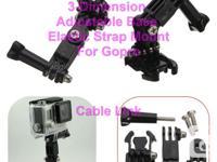 3-Dimension Adjustable Elastic Base Buckle Strap Mount