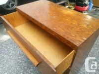 """Wooden dresser with 3 drawers. 32"""" high, 31.5"""" wide and"""