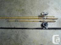 diawa 8 ft 8 in black widow w/ diawa reel ex. cond / 1