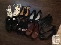 Bag of shoes dimension 9 includes wedges and flats some