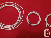 I got 3 pieces of White Coaxial Cable/Satellite Cord:.