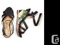 I have three brand new pairs of wedge heel sandals for