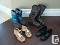 Used, 3 Pairs of Shoes & Boots - Age 5-7 Yrs Old -Great for sale  Ontario