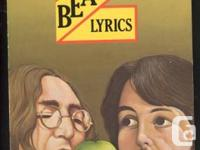 3 Beatles Paperback Books. Beatles Lyrics, posted in