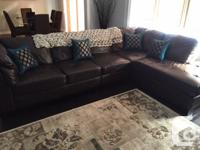 Quality Leather 3 Piece sectional set for sale. Items