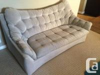 Comfy, gently used but very durable gray sofa set. Need