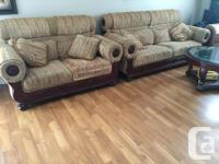 3 piece sofa set: one long chair (seats two) one love