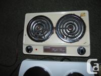 3 PORTABLE COOKING RANGE--DOUBLE BURNER 1-SALTON
