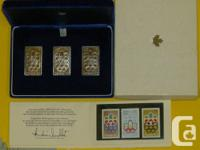 Three Silver 1976 Canadian Montreal Summer Olympics