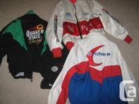 3 jackets from the late 80's med/ large like new