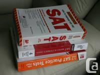 3 SAT exam books practice Math practice  Cracking the