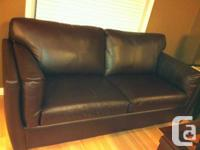 3 Seater leather sofa 1 year old