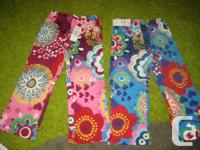 3 sets of BRAND NEW Stretch Retro Floral Print Kid's