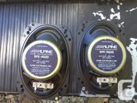 1 set of alpine car speakers 5.00 1 set of 120 watt