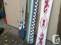 Womens 145cm board w/ Burton bindings 2 men's boards w/