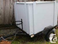 3 x 4 Covered Utility Trailer       $300.00  FIRM