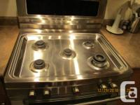 "Electrolux stainless steel 30"" range. Excellent"