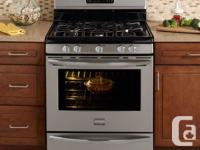 "Design: CGGF3042MF. 30"" stainless gas Frigidaire"