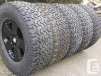 (5) LT305 65 r18 (34x12x18) BF Goodrich A/T Ko tires