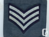 ROYAL CANADIAN AIR FORCE: SERGEANT'S OVER SLIDE CHEVRON