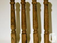 "Set of 4 Wooden Table legs 11"" 1/2 with Hardware about"