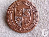 WW2 Saint Thomas University COTC Cap Badge In