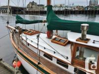 This classic cutter has traditional maritime character